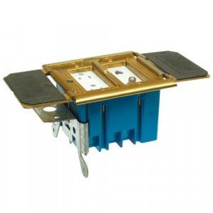 APC-B234BFBB Floor Box Housing, 2-gang For Decora or Low Voltage