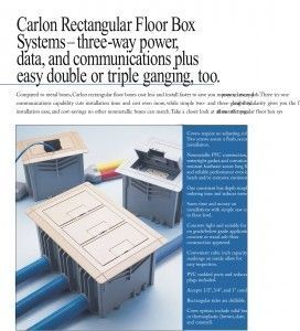 APC-E976RFB (3-pack) Floor Boxes Sold only in a 3 pack for $329.90 complete with devices.