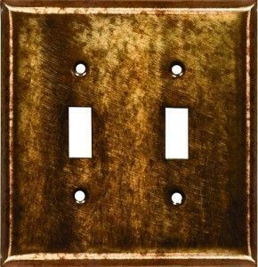 copper patina switch plates
