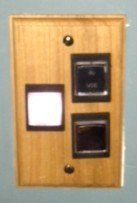 custom made Cherry wood switch plates
