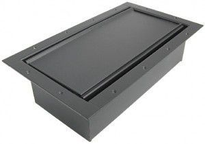 Double Wide Pocket AV Floor box in our black finish