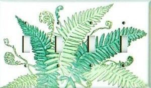 Fern Design light switch plate covers