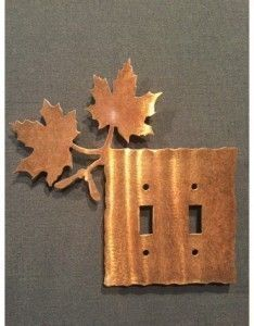 Maple leaf switch plates