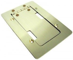 Mini Stage Pocket AV floor box in brass