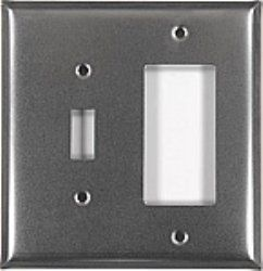 Custom Finished Wallplate shown in # 1 Natural Pewter