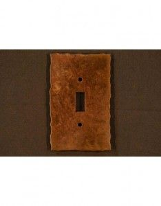 Plain rustic switch plates