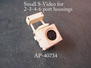 S-Video for 2-3-4-6 port housings 40734 for switch plates