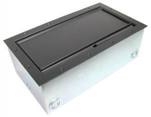 Super Double Pocket AV Floor Box in Black