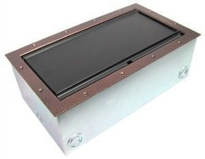 Super Double Pocket AV Floor Box in copper vein