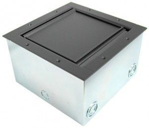 Super Pocket AV Floor Box in black