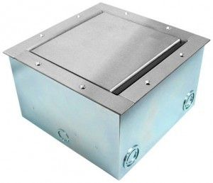 Super Pocket AV Floor Box in stainless