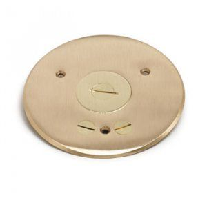 AP-TCP-1-PC Floor Box Cover in Brass or Aluminum for Concrete Floors