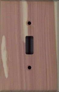 Tennessee Cedar (Eastern Cedar) wood switch plates