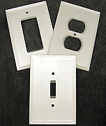 Frosted glass switch plate covers